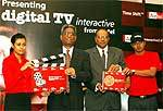 Atul Bindal of Telemedia Services, N Arjun of Bharti Airtel at the Airtel Digital IPTV Launch