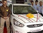 Bharat Hyundai launches Fluidic Verna in Bikaner