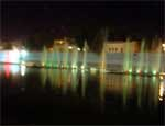 Fountain lights brighten Sursagar Bikaner