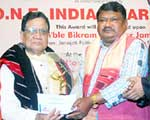 ONE India Award to Bikram Bahadur Jamatia