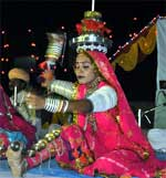 Folk Dancer of Rajasthan performs Tera Taal at Beach Festival organised in Deev