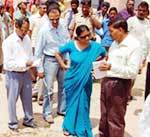 Drought Study Central Team inspect Bikaner drough situation