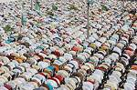 Muslims religious paying namaaz at Eidgaah, Bikaner