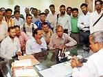 Ashraf Ali ADM -A, Bikaner Ageraw to the demand for quick allocation of plots to journalists