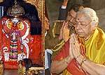 Governor Prabha Rao Visits Deity Karni Temple at Deshnok, Bikaner