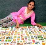 Monika panwar with her latest match boxes collection. She has now more than 2800 different match box