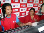 RJ Rohit and Republic Song Day Vande Matram Song winner Madhu Sharma in Big FM 92.7