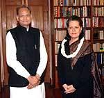 Ashok Gahlot met with UPA Chairperson Sonia Gandhi