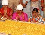 At Vaishno Dham, Bikaner tribute paid to victims of Chamunda Devi Temple with lighting 101 Diyas