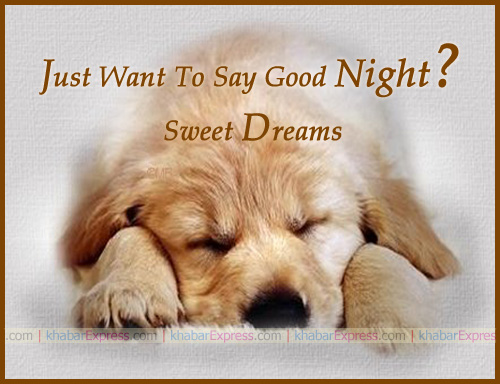 Just say good night