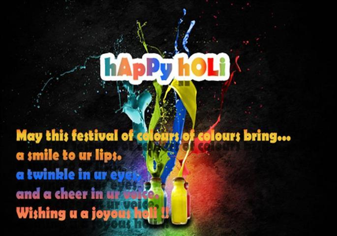 May this festival of colours of colours bring...