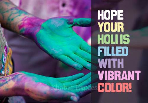 Hope your holi filled with vibrant color