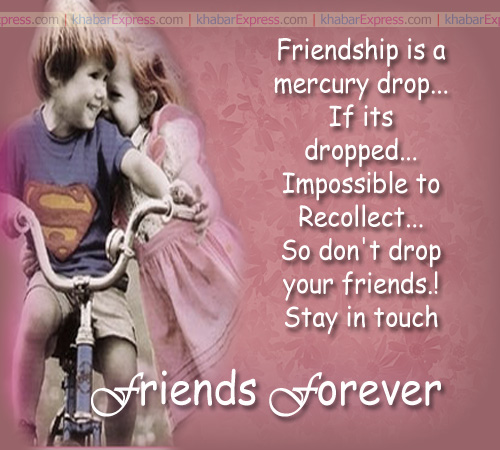 friendship is mercury drop