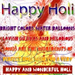 Wish you a very happy and wonderful Holi.....