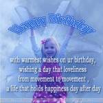 With warmest wishes on your birthday