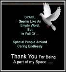 Thank You for being a part of my space