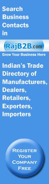 Search Business Contacts in Rajb2b.com Indians Trade Directory of Manufacturers, Dealers, Retailers, Exporters, Importers