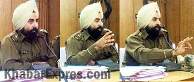 Bikaner SP Amandeep Singh during Meet the Press event of Bikaner Press Club