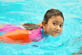 Indian Girl Swimmer