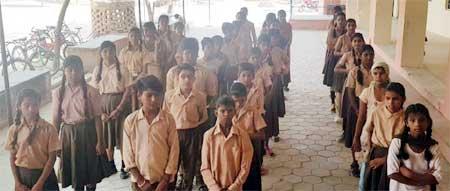School Kids during FAN Giftign Event