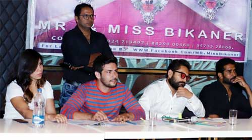 Judges during audition round of Mr & Miss Bikaner