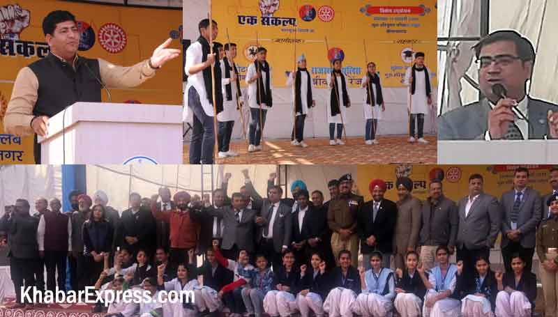 Motivational Speaker Dr Chakravart N Shrimali and Rotary Club Bikaner President Puneet Harsh