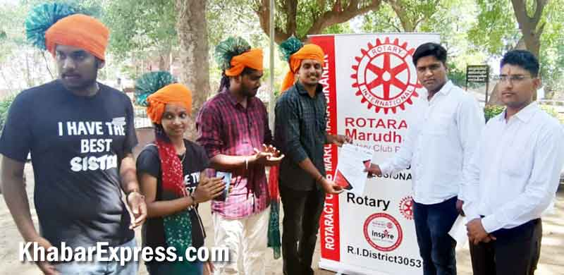 Rotaracts of Club Bikaner Marudhara and Western Vally of Coimbatore exchanging letter