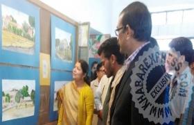 तीन दिवसीय चित्रकला प्रदर्शनी का शुभारंभ