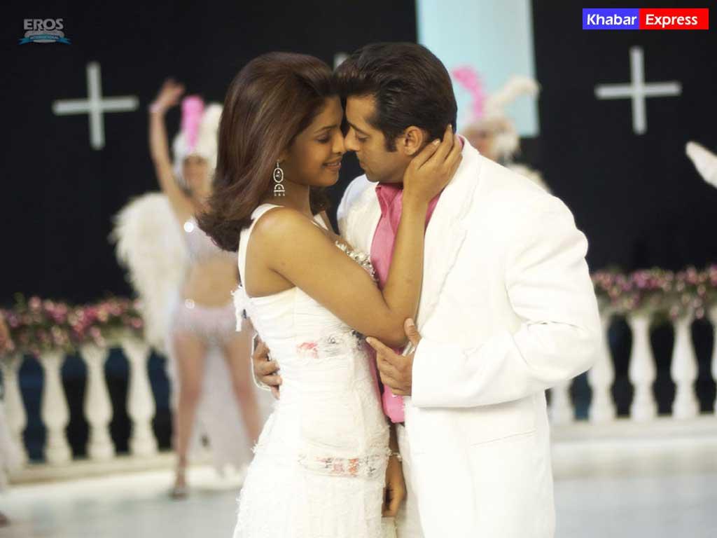 Salman Khan and Priyanka Chopra in the movie God Tussi Great Ho