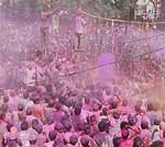 Holi celebration in PIC � Traditional Tani Tod program at Nathusar Gate, Bikaner