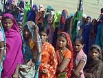 Women waiting for her turn to cast their votes for Panchayat Election in Banswara District