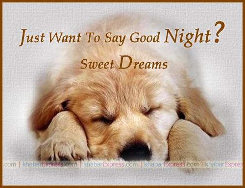 Just say good night