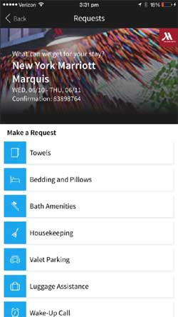 Mobile App for Marriott Guest