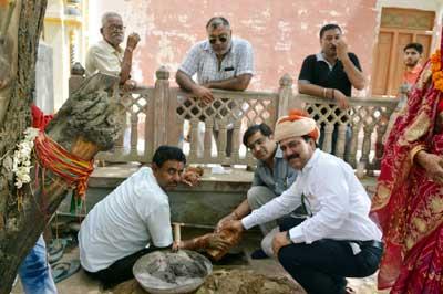 water hut foundation ston established ceremony at laxminath