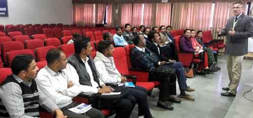 Dr Gaurav Bissa addressing SKRU